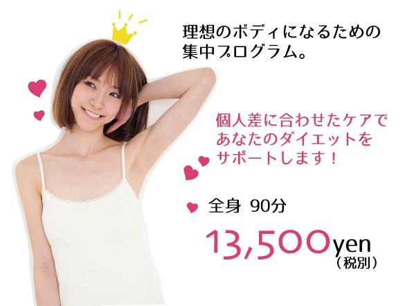 全身90分 13,500円(税別)